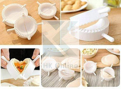 3 DUMPLING MOLDS -Dough Press, Meat Pie PASTRY SEALER -Samosa, Pasty Cutter, Empanada, Ravioli