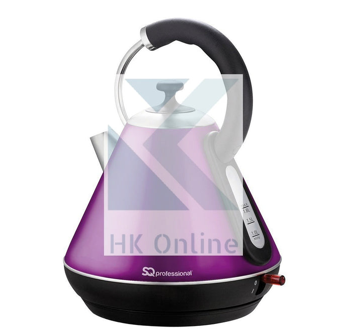 Pro Fast Boil Amethyst Gems CORDLESS KETTLE -2200W, 360 Degree, Removable Filter
