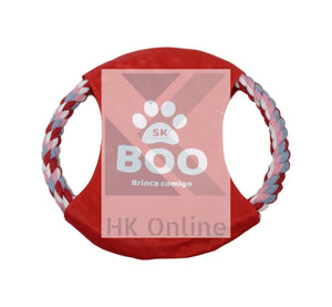Dog Frisbee Style ROPE TEETHING RING -Dog Chew Toy, Puppy Fun, Fetch & Play 20cm