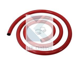 1.5 Metre Low Pressure GAS HOSE & 2 JUBILEE CLIPS -Approved, Camping, BBQ & Outdoors