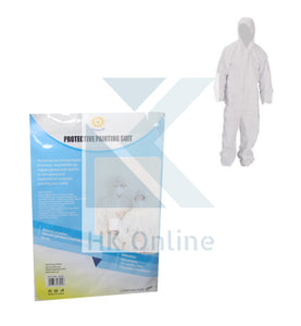 Hooded Disposable DECORATORS SUIT -Painting Coverall, One Size