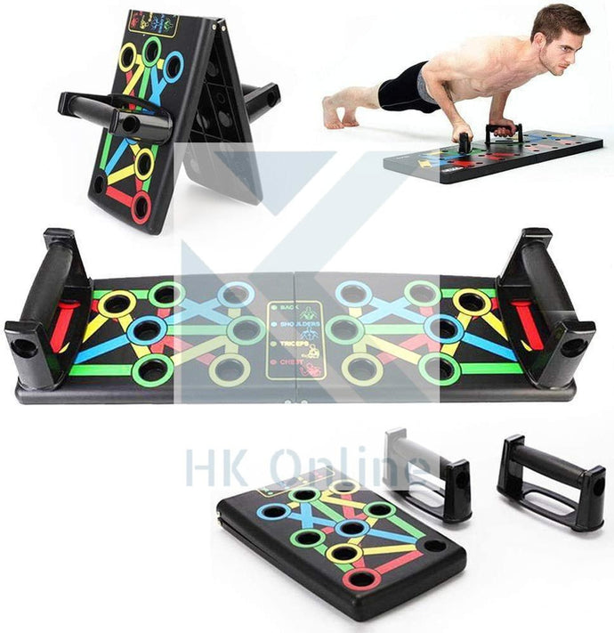 14 in 1 Strength Press PUSH UP BOARD -Fitness, Chest, Abs, Muscle, Arms, Easy Fold