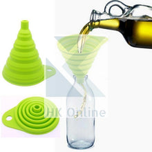 Load image into Gallery viewer, No Spills Adjustable Silicone COLLAPSIBLE FUNNEL -Ideal For Narrow Necked Bottles