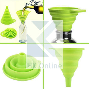 No Spills Adjustable Silicone COLLAPSIBLE FUNNEL -Ideal For Narrow Necked Bottles
