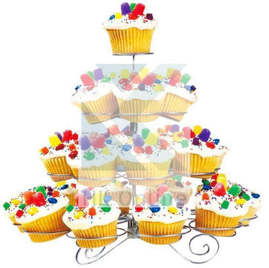 23 CUPCAKE STAND Wired Spiral 4 Tiered Tree CAKE STAND -Parties & Celebrations