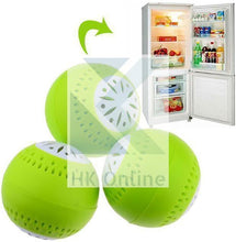 Load image into Gallery viewer, Pack 3 FRIDGE FRESHENER -Deodoriser Balls, Removes Odour Food FRESHER FOR LONGER