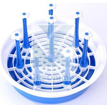 Load image into Gallery viewer, Round Glass & Mug Holder, Drainer, Rack with Draining Tray -Vegetable & Dish Drainer