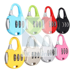 3 Digit COMBINATION LUGGAGE Lock -Locker, Briefcase, Bike, Travel Padlock