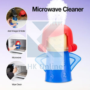 Fast Action 'Angry Mama' MICROWAVE STEAM CLEANER -Non Toxic, Simply Add Water