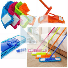 Load image into Gallery viewer, Extendable MICROFIBRE Mop -Wet or Dry Sweeper, Includes Washable Noodle Mophead