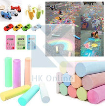 Load image into Gallery viewer, HKM Kids 12 Pcs Jumbo PAVEMENT CHALKS -Large Hopscotch Chalk, Giant STREET CHALKS -Fun Art Game, Coloured Chalk, FREE MOBILE ERASER