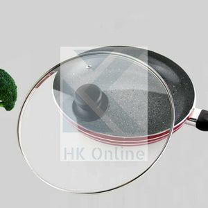 40cm Tempered GLASS PAN LID -Vented Knob, Woks, Stirfry Pan, Stockpot, Casserole, Saucepan Lid