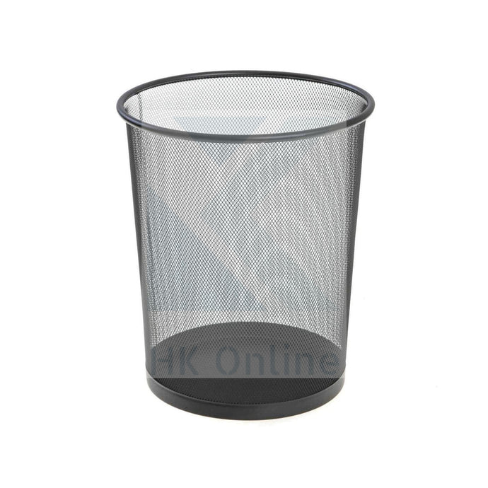 Black Mesh WASTE PAPER BASKET -Home, Office, Rubbish Bin 34cm x 24cm Diameter