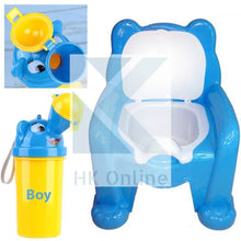Load image into Gallery viewer, Easy Clean Toddler POTTY TRAINING CHAIR Seat & Travel Urinal, Removable Potty Lid (BLUE)