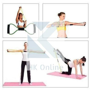 Ultra Toner YOGA RESISTANCE TUBE Bands -Body Trimmer, Pilates, Glutes, Chest & Arms