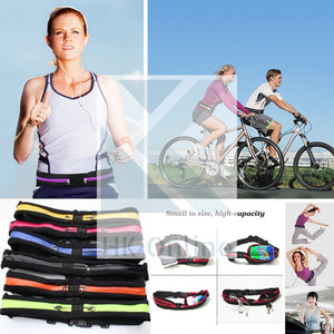 Running Cycling GYM Belt, Twin Pocket Waist Pack FITNESS BELT, Money, Keys & Reusable Sports WATER BOTTLE