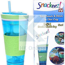 Load image into Gallery viewer, Snackeez 2 in 1 SNACK & DRINK CUP -Parties, Travel Cup