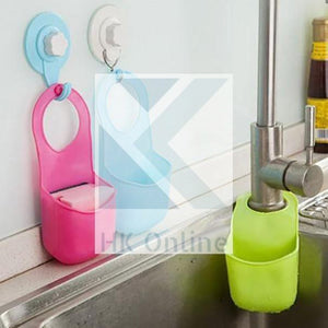 Handy TAP SPONGE Holder -Holds Soap, Scrunchie
