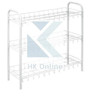 3 Tier VEGETABLE RACK -Store Fruit & Veg, Packets 56cm in White