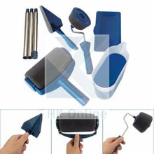 Load image into Gallery viewer, 6 Pcs PAINT ROLLER PRO Set -No Drips, Spills or Mess, Poles, Pads, Edger & Tools