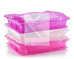 Plastic WAVES DISH DRAINER -Plate Rack, Drip Tray, Cutlery Holder 50 x 38cm