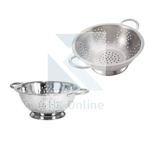 Twin Handled COLANDER -Stainless Steel Drainer, Pasta, Vegetables, Fruits 28cm