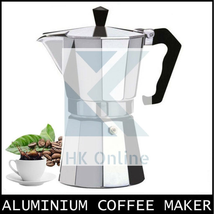 9 Cup Italian ESPRESSO STOVE TOP COFFEE MAKER -Continental Percolator Pot Jug, Camping, Caravan, Brewing Rich Coffee