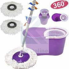 360° Magic SPIN MOP & BUCKET -Rotating Microfibre Head, Easy Clean
