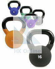 Load image into Gallery viewer, 10KG Soft Touch Neoprene Coated Cast Iron KETTLEBELL -Sumo Squats, Walking Lunges