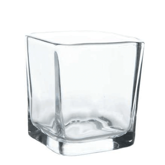 "2"" Square Glass Votive - Clear - Set of 4"