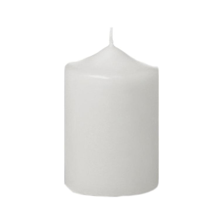 "4"" Tall Column Candles - White - Set of 12"