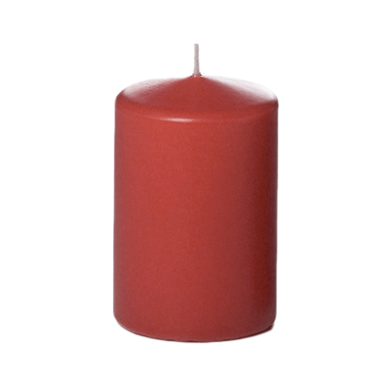 "4"" Tall Column Candles - Red - Set of 12"