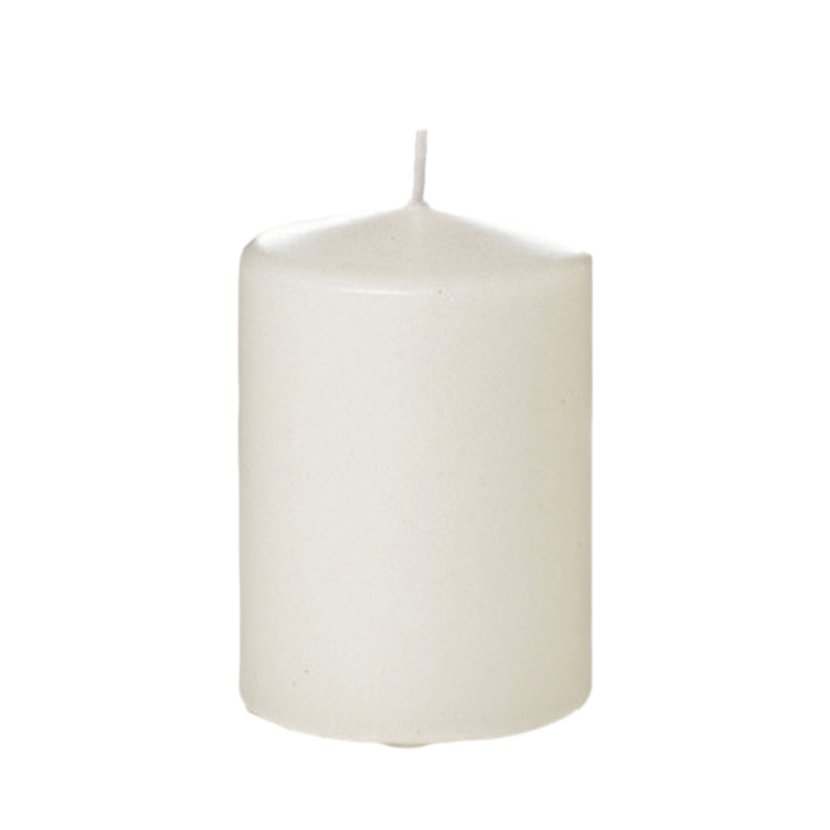 "4"" Tall Column Candles - Ivory - Set of 12"