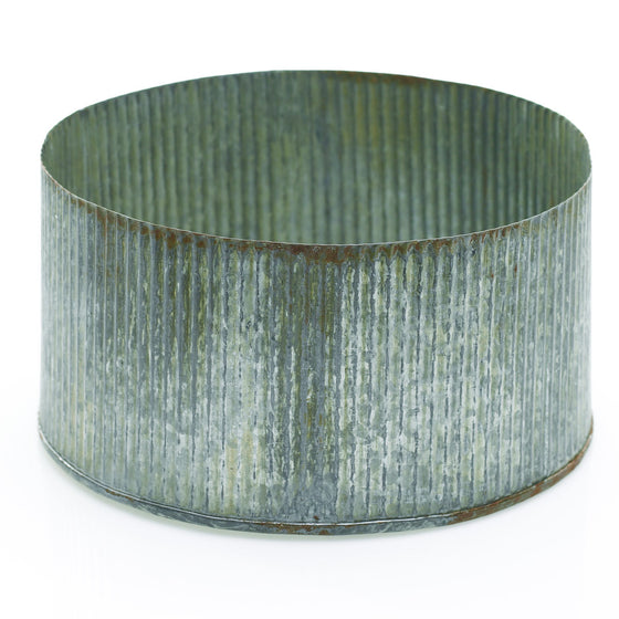 Zinc Bowl with Antique Patina Finish