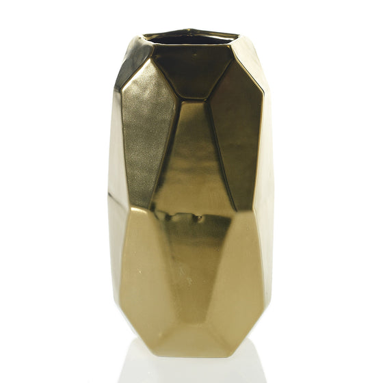 Golden Geometric Vase
