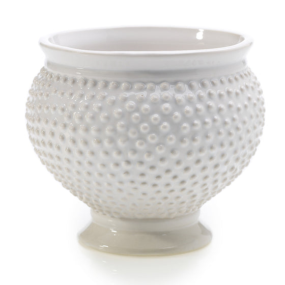 Spotted Bowl Container - White