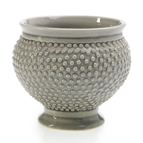 Spotted Bowl Container - Grey