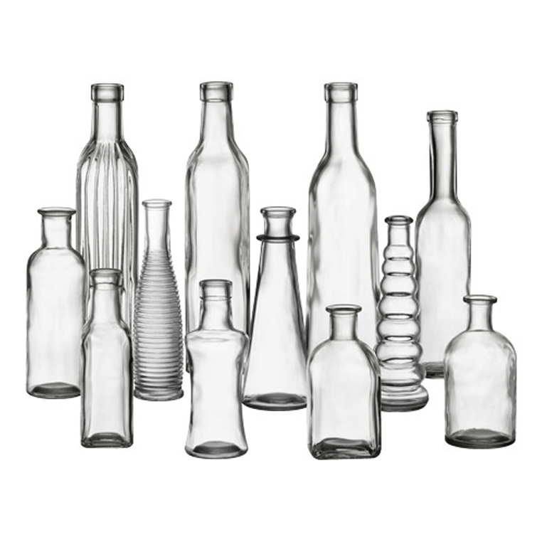 Assorted Bud Vases, Clear Glass - Set of 12