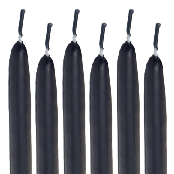 Taper Candles Black
