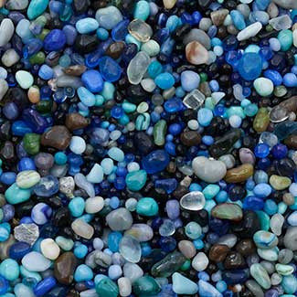 46oz Glass Beads - Ocean Blue
