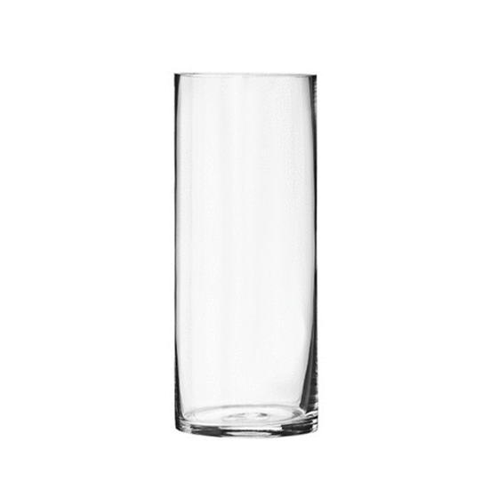 "10"" Clear Glass Cylinder - 3.5"" Diameter - Set of 12"