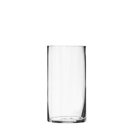 "7.5"" Clear Glass Cylinder - 3.5"" Diameter - Set of 12"