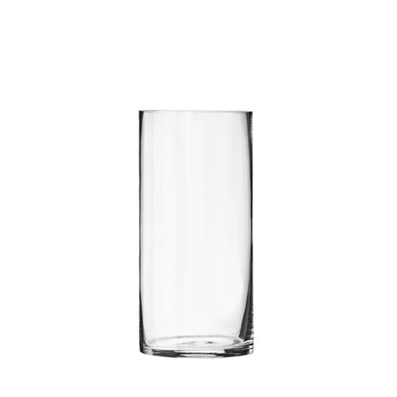"8.75"" Clear Glass Cylinder - 3.5"" Diameter - Set of 12"