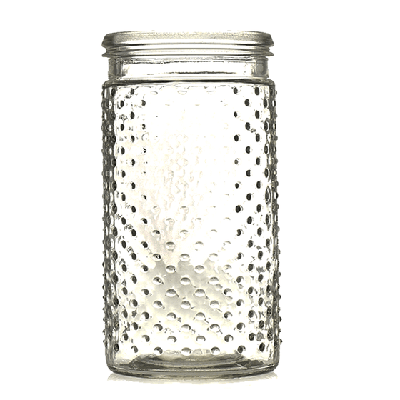 Tall Hobnail Jar and Hanger - Clear