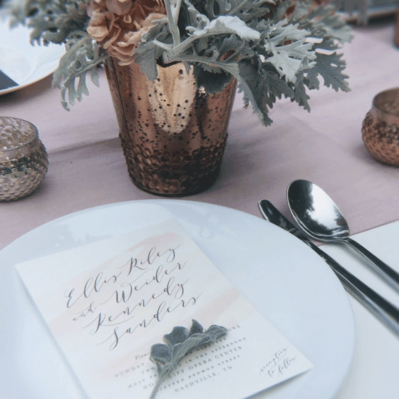 DIY Centerpieces - Rose Gold Nostalgia with warm Grey and Blush Tones