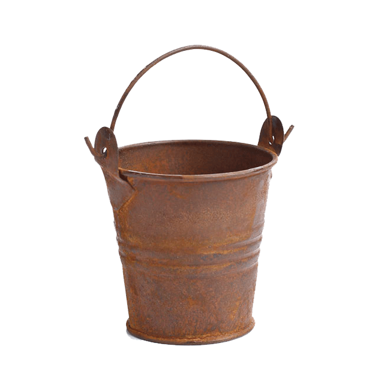 Mini Rusted Milk Pail Guest Favor