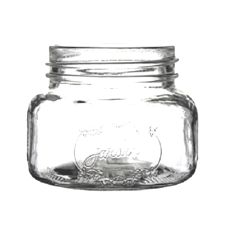 Small Mason Jar - Clear - Set of 4