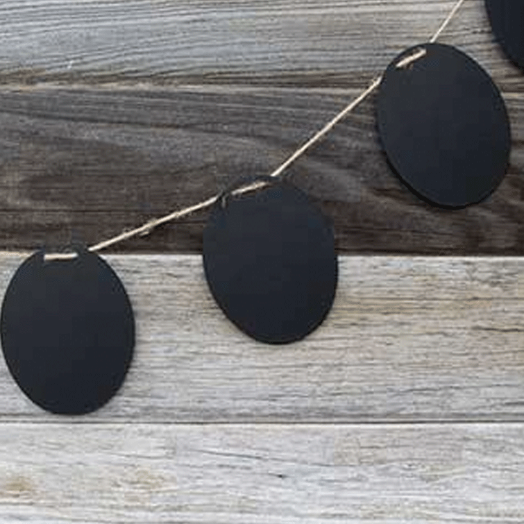 Chalkboard Slate Garland on Twine - Oval