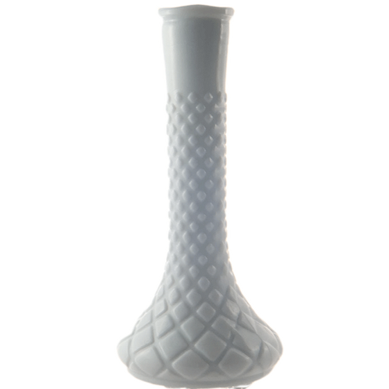 Heirloom Honeycomb Bud Vase - Milky White