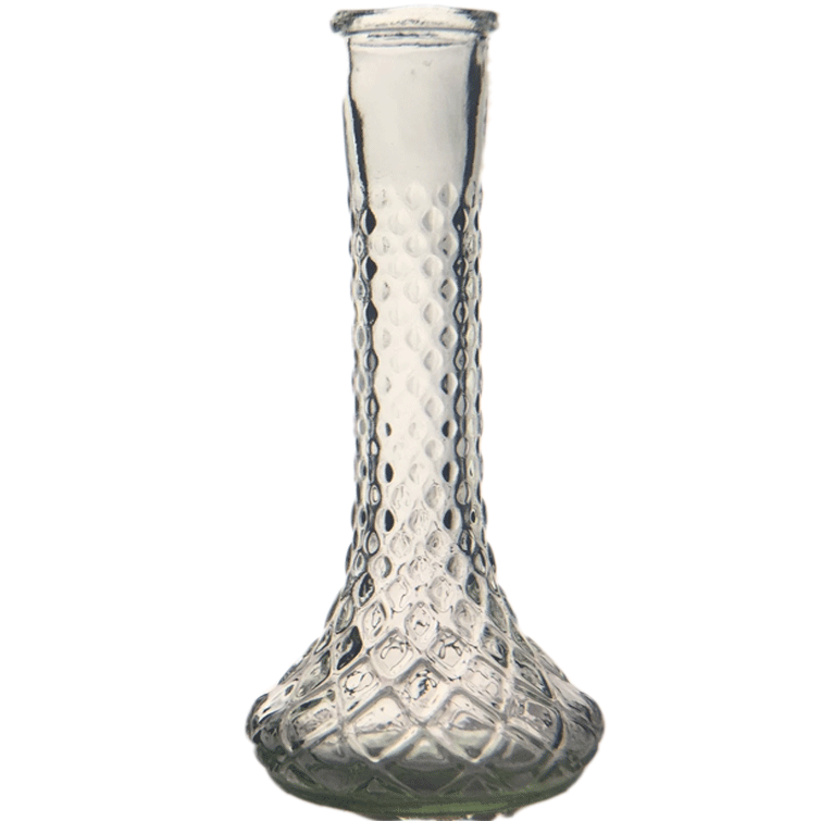 Heirloom Honeycomb Bud Vase - Clear